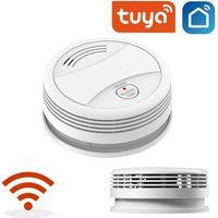 WLAN Rauchmelder Wifi Rauch-/Hitzemelder SicherheitTuya App mit Batterie Smart Wifi Rauchmelder Brandmelder