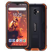 Blackview BV5900 IP69K Outdoor Handy Ohne Vertrag 5,7 Zoll HD+ Waterdrop Display Android 9.0 13MP+5MP Kameras 5580mAh Akku Helio A22 3GB+32GB 4G Robustes Smartphone (Orange)