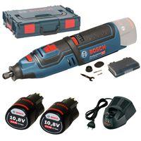 Bosch GRO10,8V-Li Akku-Multifunktionswerkzeug, LBoxx, 2 x 2,0 Ah Li-Ion Akku