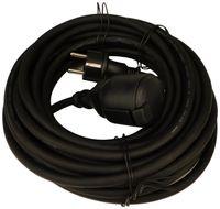 Unitec 44589 Feuchtraum-Verlängerungsleitung 25m schwarz, IP44 (Schuko) H05RR-F3G1.5mm²
