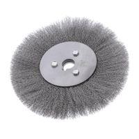 Edelstahldraht-Schleifbürstenrad 5 Größe 150 x 16 mm (0,15 mm Drahtdurchmesser) Grau Tasse Elektrisches Schleifzubehör
