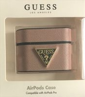 Guess Safiano Hard-Case Tasche Pink für Apple AirPods Pro