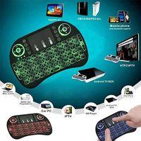 Mini Drahtlose Fernbedienung Tastatur Kabellos Tastatur Touchpad Mausrad LED-Maus für Laptop Smart Android TV Box