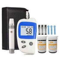 Blutzuckertest-Kit, Diabetes-Blutzuckermessger?t-Monitor-Kit mit 50 Teststreifen und 50 Lanzetten, Zuckermaschine ohne Codierung