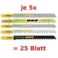 Festool Stichsägeblatt-Set STS-Sort/25 W z. B. für PS 300 PSB 300 PS 400 PSC 400