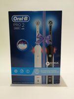 BRAUN Oral-B Pro 2 2900 Duopack Zahnbürste Black-White Edition, Farbe:Schwarz-Weiß