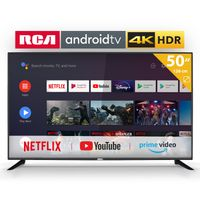 RCA RS50U2 Android TV (50 Zoll 4K Smart TV mit Google Assistant), eingebauten Chromecast, HDMI+USB, Triple Tuner, 60Hz