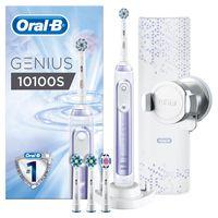 Oral-B Genius 10100S Orchid Purple Elektrische Zahnbürste mit Zahnfleischschutz-Assistent