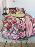 Irisette Baumwoll Bettwäsche 2 teilig Bettbezug 135 x 200 cm Kopfkissenbezug 80 x 80 cm Peach 8824-90 multi