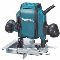 Makita Oberfräse RP0900J - 900W - 2,7kg - 27.000u/min - Hubhöhe 0-35mm