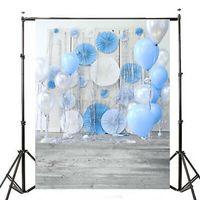 Hintergrundstoff Fotostudio 1Mx1.5M Hintergrund Ballon Holzfußboden  N D