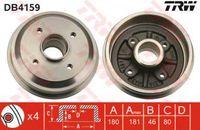 Trw Bremstrommel Hinterachse DB4159