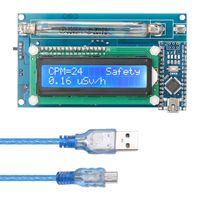Zusammengebauter DIY Geigerzaehler Kit Modul Kernstrahlungsdetektor mit LCD Display