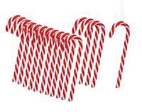 30  Zuckerstangen zum Hängen 13 cm Rot Weiss Baumschmuck Weihnachten