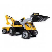 Smoby Kindertraktor mit Anhänger Builder Max Gelb und Schwarz