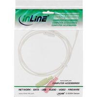 InLine® Audio Headset Adapterkabel, 3,5mm ST 4pol. an 2x 3,5mm BU, weiß, 1m