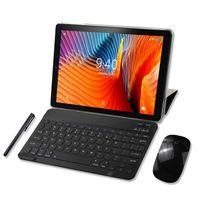YOTOPT Tablets 10 Zoll mit Tastatur und Maus, Android 9.0 Pie, 4G Dual SIM, 64GB, 4GB RAM, WIFI/Bluetooth, GPS, Type-C/SD, Farbe: Schwarz