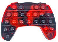 GKA XL Push it Pop it Bubble Controller rot-schwarz Trend 2021 Spielzeug Fidget Rainbow Antistress Joystick Regenbogen
