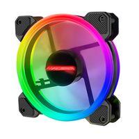5x RGB Gehaeuseluefter 120mm PC Gehäuse Lüfter mit 7 Farben LED Gehäuselüfter Computergehäuse Ventilator
