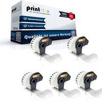 5x Kompatible Etiketten-Rollen für Brother P-Touch DK-22210 P-Touch QL 580 Series QL 650TD QL 700 QL 710W QL 720NW DK22210 30,48 m x 29 mm Endlos Adress Etiketten Label Office Serie