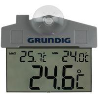 Grundig Aussenthermometer mit Saugnapf Fensterthermometer digitale Wetterstation Fenster Thermometer