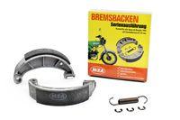 Satz Bremsbacken komplett Durchmesser 124mm inkl. Sicherungsscheiben für Simson