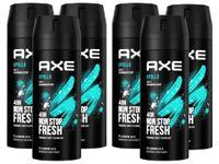 AXE Bodyspray Apollo Deospray Deodorant Männerdeo ohne Aluminium 6x150ml Herren Männer Men Deo mit 48 Std. Schutz