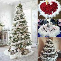 10 stücke ,2M Weiße Feder Boa Streifen,Party Girlande Dekoration Bekleidung Stoff DIY Hochzeit Party liefert