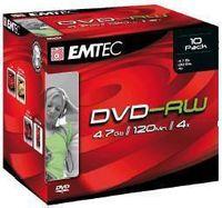 Emtec DVD-RW 4.7GB 4X JC 10Pack, 4,7 GB, DVD-RW, 10 Stück(e), 120 min, Rot, 4x