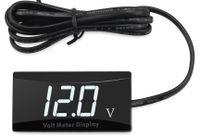 12V Voltmeter Digital Anzeige für Motorrad Auto Led anzeigetafel Voltmeter (Weiss Digital )