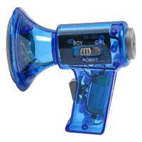 Mini Megaphon Lautsprecher Sprachwechsler Kinderspielzeug  mit Batteriebetrieben, Geschenk für Kinder Farbe Blau