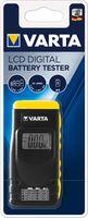 VARTA Batterie /Akku Tester mit LCD Anzeige schwarz