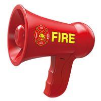 Elektrisches Mini Megaphon Spielzeug für Kinder Rollenspielzeug rot modern Feuerwehr-Megaphon 165 x 150 x 95 mm