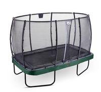 Trampolin EXIT Elegant Premium rechteckig 244x427cm + Netz Deluxe grün
