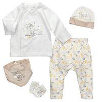 Disney Baby 5 Teile Set König der Löwen Goodnight Simba weiß gelb 56/62 (0-3 Monate)