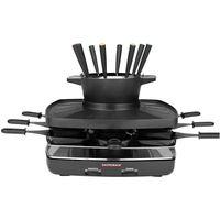 Gastroback Family & Friends Raclette/Fondue Set schwarz antihaftbeschichtet