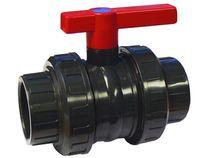 Cepex PVC Kugelventil PVC 50 mm beidseitiger Klebeverschraubung