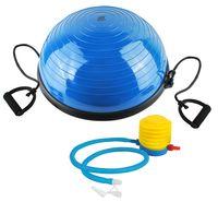 Balance Ball mit Bändern Half-Ball Luftpumpe Ø57cm Zuhause Reha Physio Sport 5448
