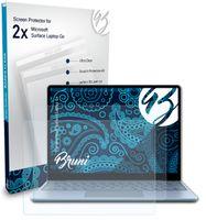 Bruni Basics-Clear 2x Schutzfolie kompatibel mit Microsoft Surface Laptop Go Folie
