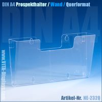 DIN A4 Wand-Prospekthalter / Querformat