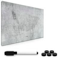 Navaris Magnettafel Magnetpinnwand Memoboard zum Beschriften - 60x40 cm Notiztafel div. Designs - Tafel abwaschbar mit Halterung Magneten Stift