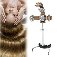 Professionel Haartrockner Stehen Trockenhaube Haartrockenhaube Infrarotstrahler Friseursalon,Heißgefärbte elektrische Haarheizung Haar (Gold)