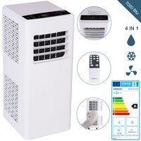 AREBOS 4in1 Mobile Klimaanlage 2kW/7000 BTU Klimagerät Kühlen Entfeuchten Ventilator EEK A