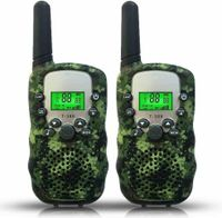 2 Stück Walkie-Talkies für Kinder, Remote-Walkie-Talkies für Kinder, UHF 2 Meilen, Kanal 22