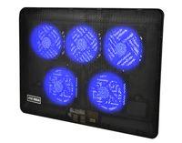 """Laptop Kühler Ständer 12-17"""" Auflage 5 LED Lüfter Einstellbar USB-Stromversorgung 5721"""
