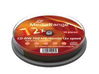 MediaRange - 10 x CD-RW - 700 MB ( 80 Min ) 1x - 12x - Spindel