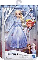 Disney Eiskönigin Singende Elsa Puppe mit Musik in blauem Kleid