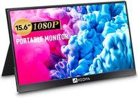ARZOPA Tragbarer Monitore 15,6 Zoll 178 ° IPS HDR 1920X1080 Full-HD Gaming bildschirm USB-C Gaming Monitor  Augenpflegebildschirm mit HDMI-Typ-C-Doppellautsprecher für Laptop-PC MAC-Telefon Xbox PS4 Inklusive Smart Case