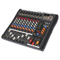 6 Kanäle Professionelles DJ Equipment USB Bluetooth Mischpult 3-Band EQ 48V Phantomspeisung Audio Mixer für Live Studio Party Club Bar Hochzeit