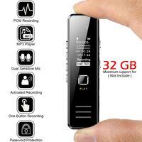 Mini Diktiergeräte Audio Recorder Sprachhörgerät 32GB Aufnahme Diktiergerät Player Digital Voice Recorder